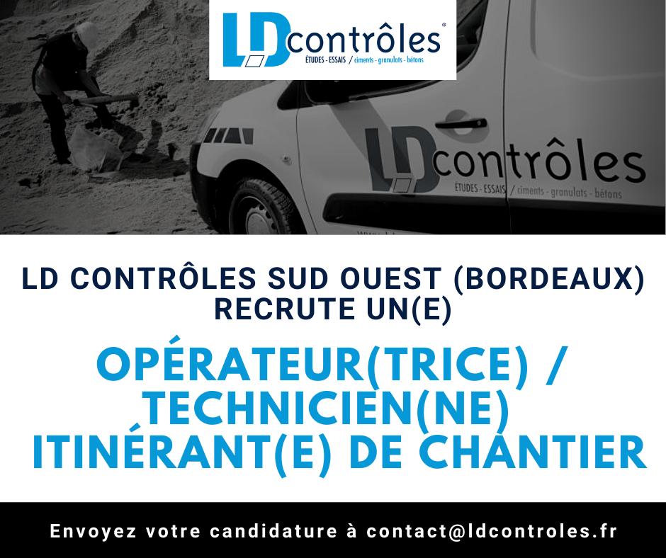 Opérateur(trice) Technicien(ne) itinérant(e) de chantier à Bordeaux