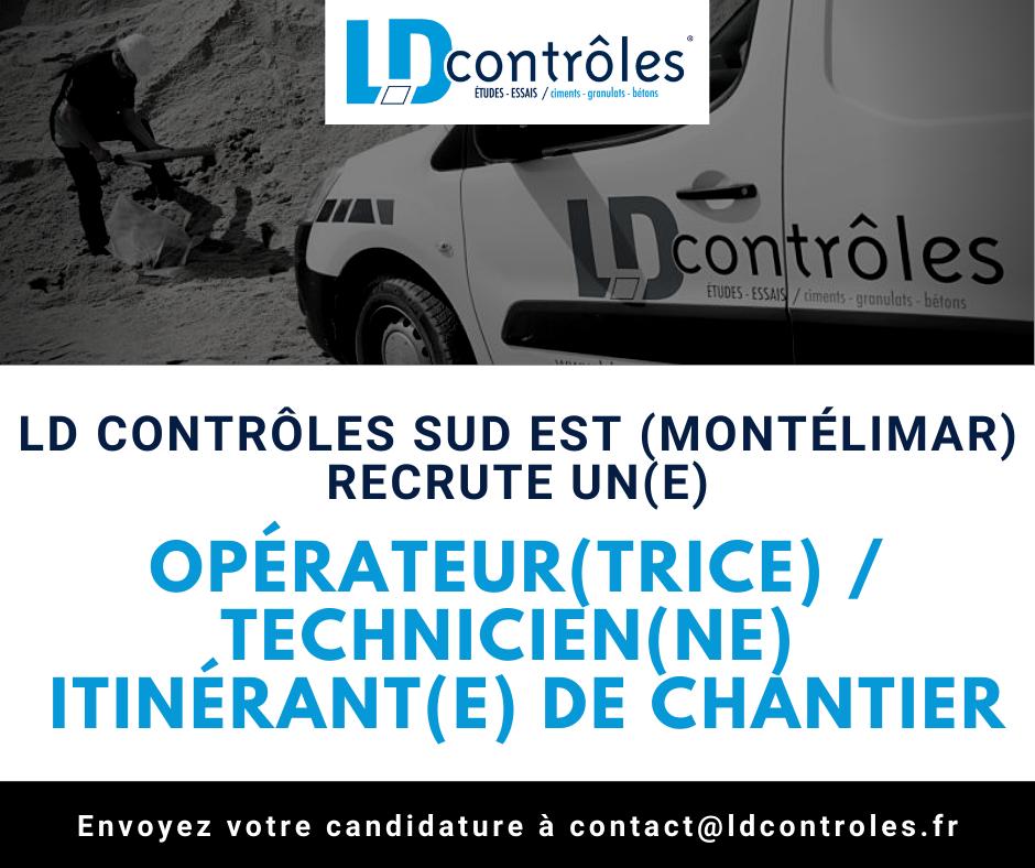 Opérateur(trice) Technicien(ne) itinérant(e) de chantier à Montélimar